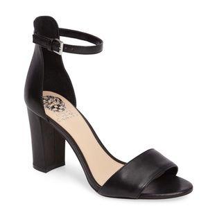 Vince Camuto Corlina Ankle Strap Heel Black 8